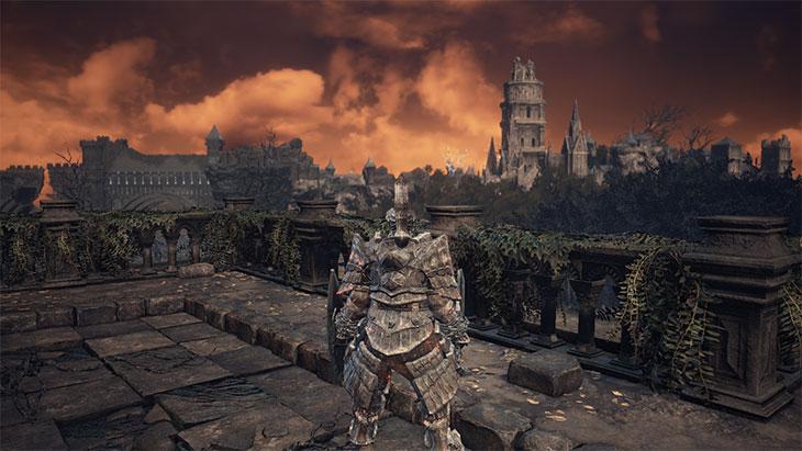 Dark Souls 3の深みの聖堂の外側の風景
