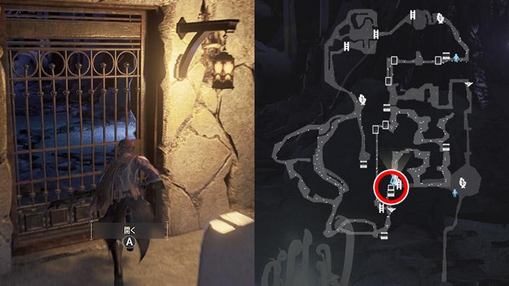 Code Veinの崩壊都市地下区域のショートカットの扉