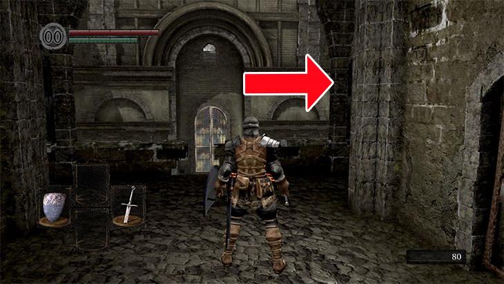 Dark Souls Remasteredの北の不死院の2階の分かれ道
