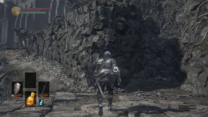 DarkSouls3の灰の墓所のボス戦前の分かれ道