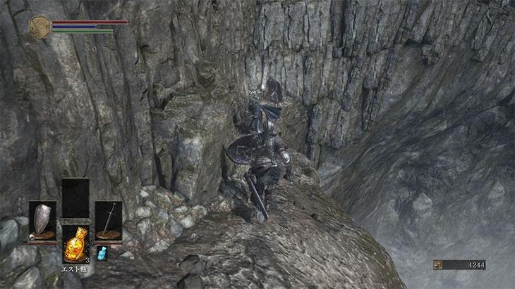 DarkSouls3の灰の墓所の行き止まり