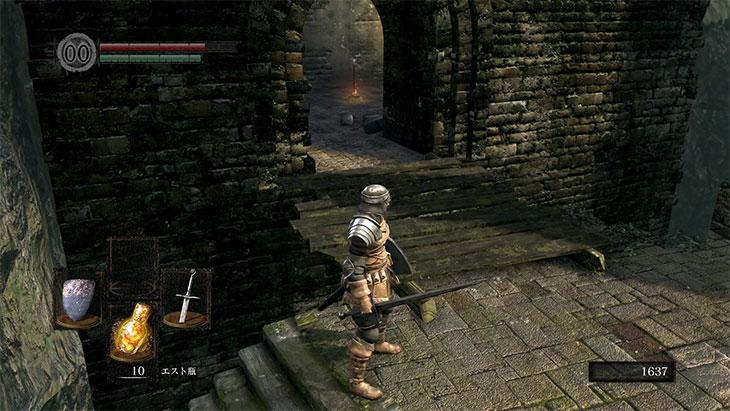 Dark Souls Remasteredの城下不死街の最初の篝火