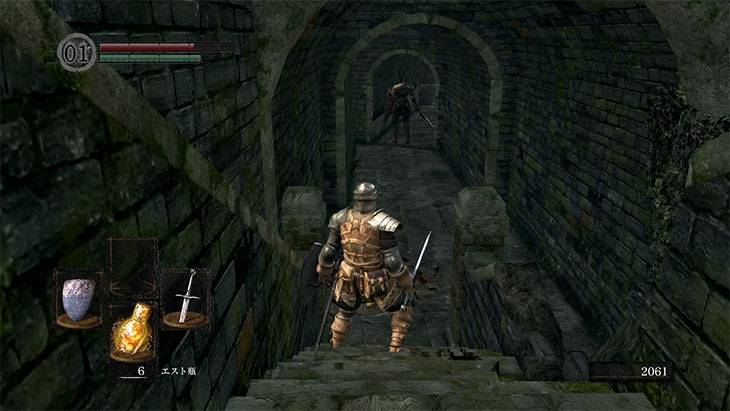 Dark Souls Remasteredの城下不死街の黒騎士