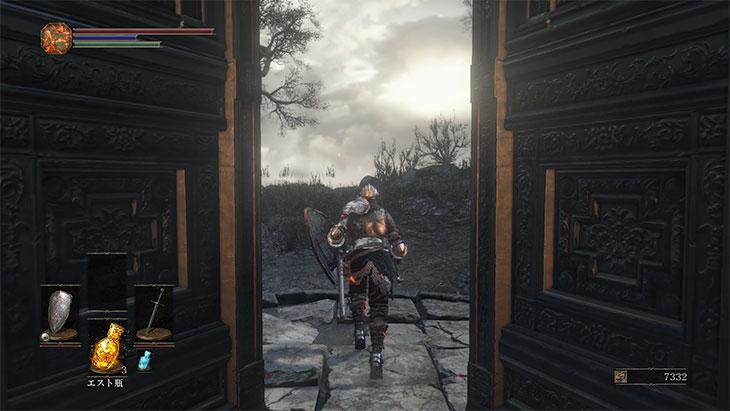 DarkSouls3の灰の審判者のボス戦後の扉