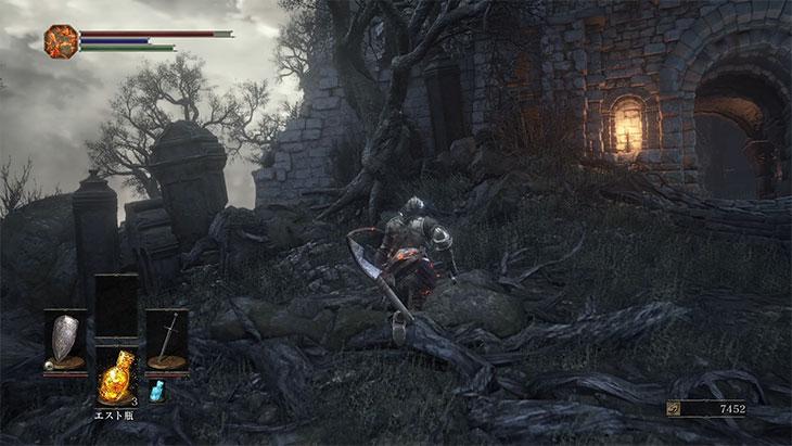 DarkSouls3の火継ぎの祭祀場前の左の道