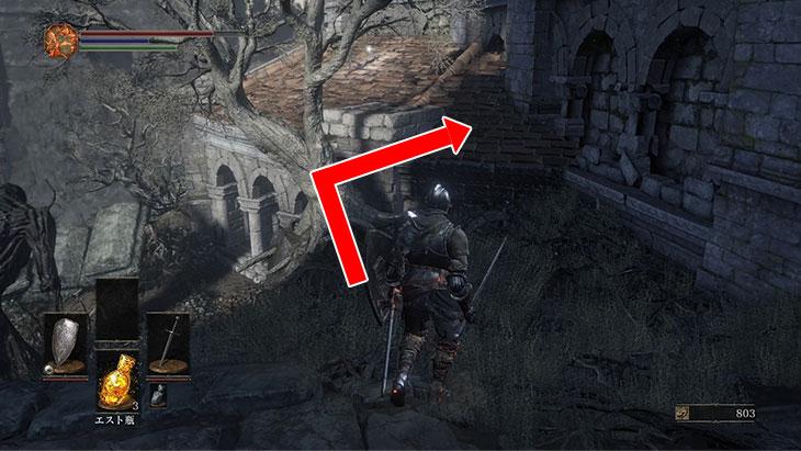 DarkSouls3の火継ぎの祭祀場の木を使った裏道