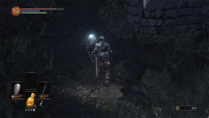 DarkSouls3の火継ぎの祭祀場の結晶トカゲ