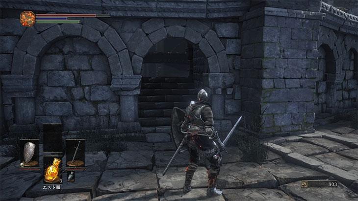 DarkSouls3の火継ぎの祭祀場の屋根裏への入り口