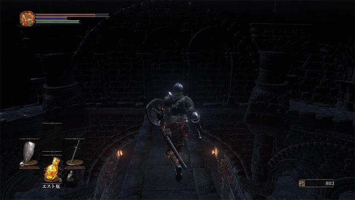 DarkSouls3の火継ぎの祭祀場の屋根裏の隠し壁