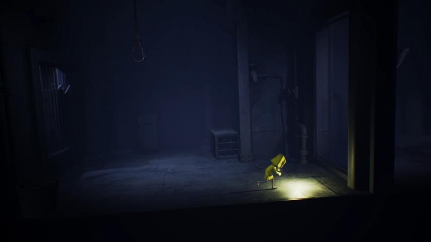 リトルナイトメアのの電気のついている暗い部屋