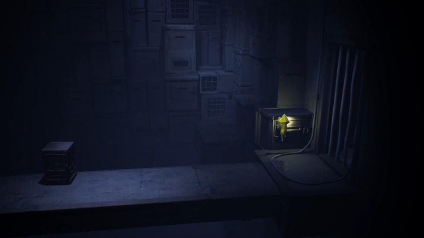 リトルナイトメアの縦長の部屋の最下層の登り口