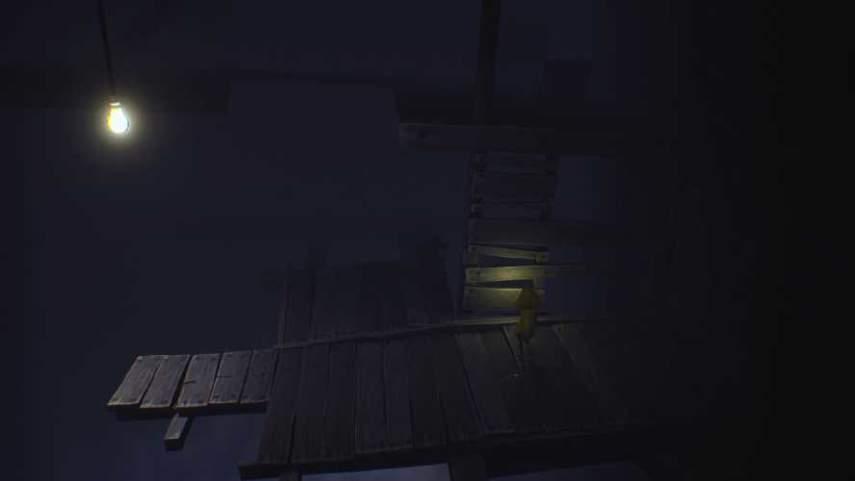 リトルナイトメアの崩れた木の部屋の上り場所