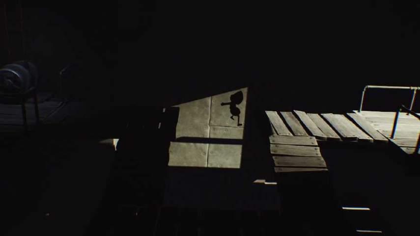 リトルナイトメアの崩れた木の部屋の出口へ