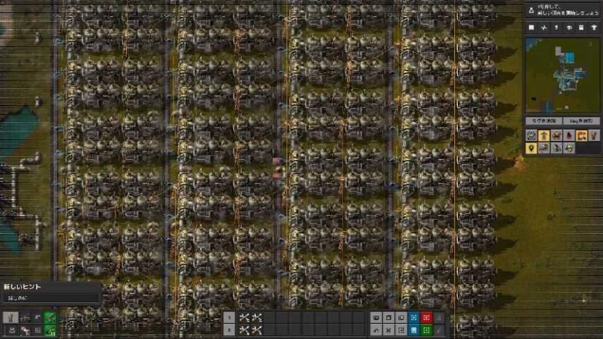 Factorioの蒸気発電群